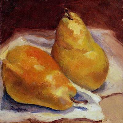 Poster featuring the painting Two Pears by Vikki Bouffard