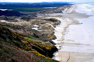 Two People Walking On The Oregon Beach Poster