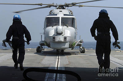 Two Royal Navy Sailors Prepare Poster