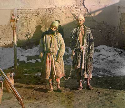 Two Shackled Prisoners In Central Asian Poster by Everett