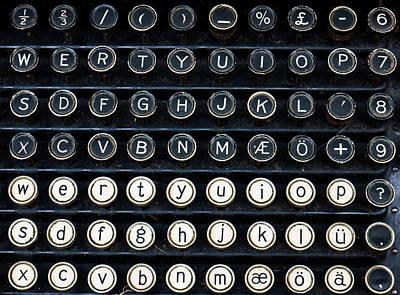 Typewriter Keyboard Poster by Hakon Soreide