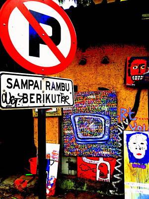 Ubud Art Street  Poster by Funkpix Photo Hunter