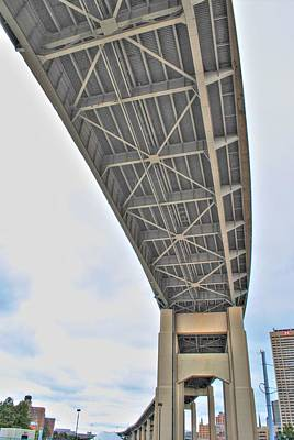 Poster featuring the photograph Under The Skyway by Michael Frank Jr