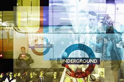 Underground Trains Poster by Mehau Kulyk