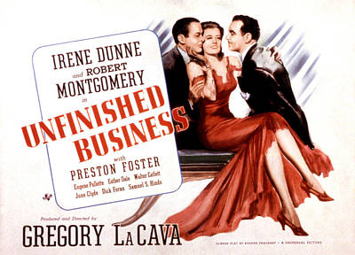 Unfinished Business, Robert Montgomery Poster