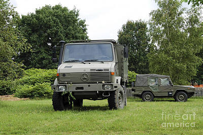 Unimog Truck Of The Belgian Army Poster by Luc De Jaeger