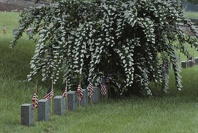 Union Army Tombstones With American Poster by Sam Abell
