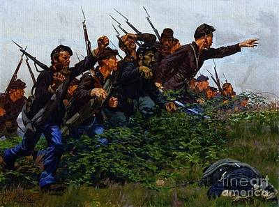 Union Soldiers Battle Of Fair Oaks Poster by Pg Reproductions