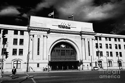 Union Station Via Rail Canada Downtown Winnipeg Manitoba Canada Poster by Joe Fox