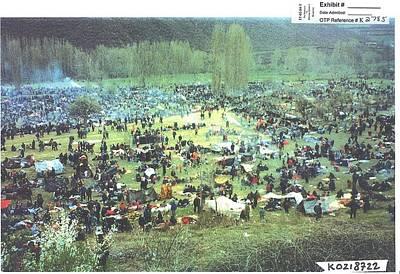 Unsheltered Islamic Kosovar Victims Poster by Everett