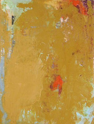 Untitled Abstract - Ochre Cinnabar Poster by Kathleen Grace