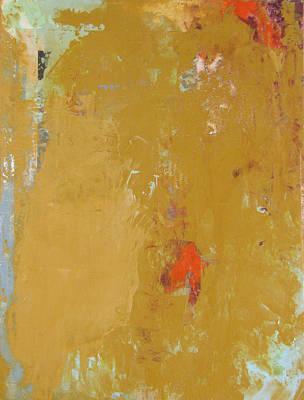 Untitled Abstract - Ochre Cinnabar Poster