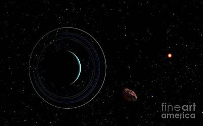 Uranus And Most Of Its Nine Major Rings Poster by Frank Hettick