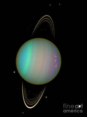 Uranus With Moons Poster by Nasa