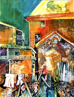 Poster featuring the painting Urban Sprawl 2 by Rae Andrews