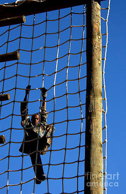 U.s. Air Force Airman Climbing Net Poster