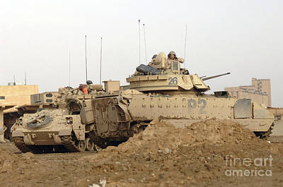 U.s. Army M2 Bradley Infantry Fighting Poster by Stocktrek Images