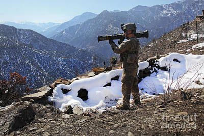 U.s. Army Soldier Prepares To Fir Poster by Stocktrek Images