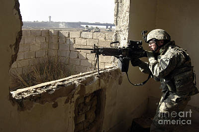 U.s. Army Soldier Searching Poster