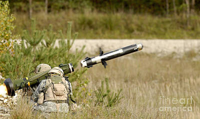 U.s. Army Soldiers Firing An Fgm-148 Poster by Stocktrek Images