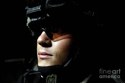 U.s. Army Specialist Waits To Dismount Poster by Stocktrek Images