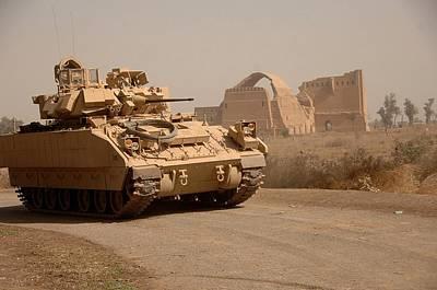 Us Bradley Fighting Vehicle Passes Poster by Everett