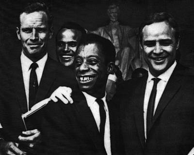 Us Civil Rights. From Left Charlton Poster by Everett