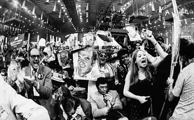 Us Elections.  At Right, Raised Fist Poster