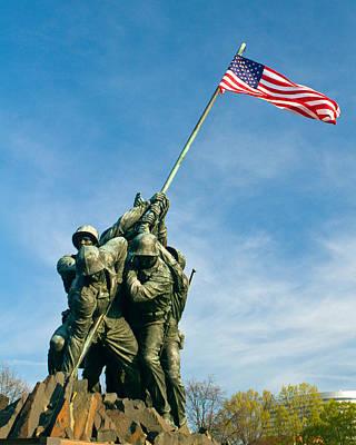 U.s Marine Corps Memorial Poster by Dan Wells