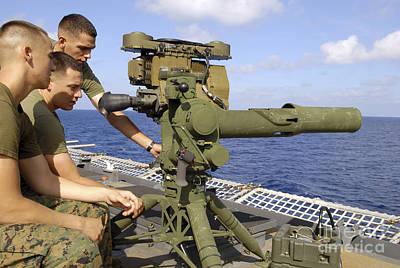 U.s. Marines Conduct Training Poster