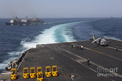 U.s. Navy Ships In The Arabian Sea Poster
