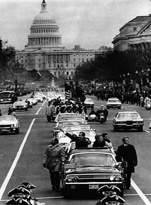 U.s. President Richard Nixon And First Poster