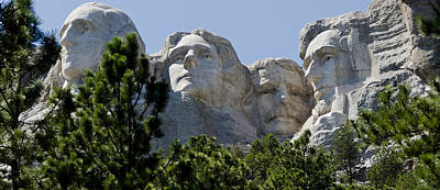 Us Presidents On Mt Rushmore Poster