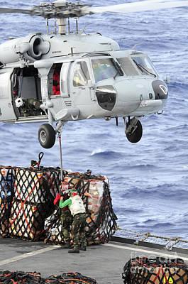 U.s. Sailors Connect A Cargo Pendant Poster
