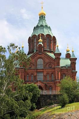 Uspenski Cathedral Helsinki Poster by Sophie Vigneault
