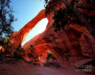 Utah - Double O Arch Poster by Terry Elniski