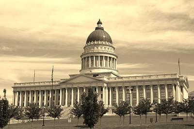 Utah State Capital Poster