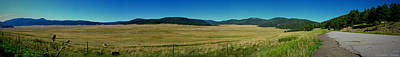 Valles Caldera Summer Panoramic Poster by Aaron Burrows
