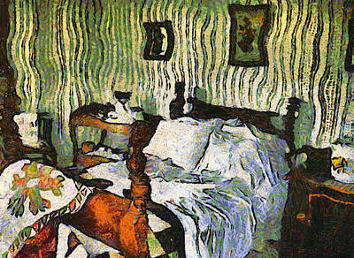 Poster featuring the painting Van Gogh's Bedroom by Mario Carini