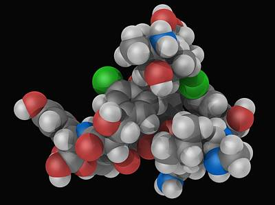 Vancomycin Drug Molecule Poster by Laguna Design