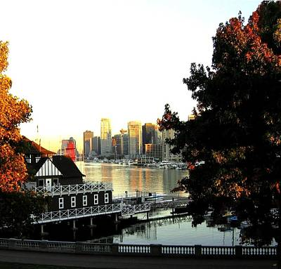 Vancouver At Sundown Poster by Will Borden