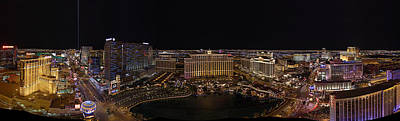 Vegas Strip From Eiffel Tower Poster