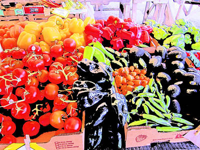 Vegetables On Display Poster by Kym Backland