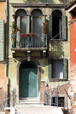 Poster featuring the photograph Venetian Doorway by Carla Parris
