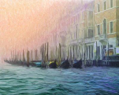 Venetian Gondolas Poster