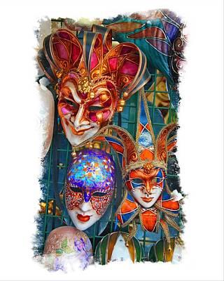 Venetian Masks Poster by Judy Deist