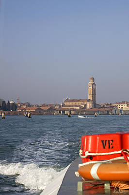 Poster featuring the photograph Venezia. From The Ferry To Murano. by Raffaella Lunelli