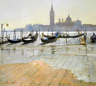 Venice At Dawn Poster by Timothy Easton
