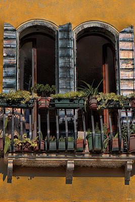 Venice Balcony Poster by Tom Prendergast