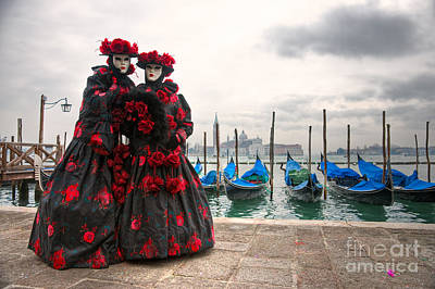 Poster featuring the photograph Venice Carnival Mask by Luciano Mortula